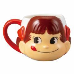 マグカップ 350ml ペコちゃん フェイス コップ 食器 磁器製 キャラクター ( カップ マグ 立体 顔 不二家 ぺこちゃん 立体マグカップ コ