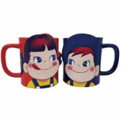 マグカップ ペア 300ml ペコちゃん コップ 食器 磁器製 キャラクター ( カップ マグ 2個 セット 不二家 ミルキー ペコポコ ぺこちゃん