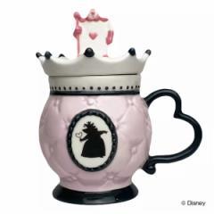 マグカップ 400ml フタ付き アリスインワンダーランド コップ 磁器 キャラクター ( カップ マグ ふた付き ハートの女王 ふしぎの国のア