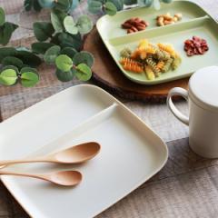 ランチプレート 22cm プラスチック カームディッシュ 皿 食器 洋食器 日本製 ( 電子レンジ対応 食洗機対応 ランチ皿 仕切り皿 四角 仕切