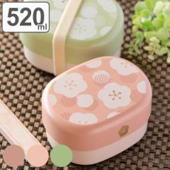 お弁当箱 2段 ランチボックス 小判型 Umeka 梅 520ml ( 弁当箱 和風 食洗機対応 レンジ対応 日本製 二段弁当箱 レンジOK 食洗機OK 弁当