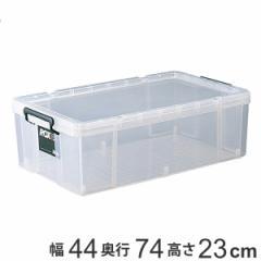 収納ボックス 幅44×奥行74×高さ23cm ロックス 740M 押入れ用 ( フタ付き 収納ケース ボックス ケース 押し入れ収納 押入れ収納 プラス