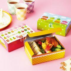 お弁当箱 ランチボックス ひょっこりフルーツ 使い捨て おかず ( 紙パック 折り箱 おにぎりケース 弁当箱 折箱 紙お弁当箱 サンド