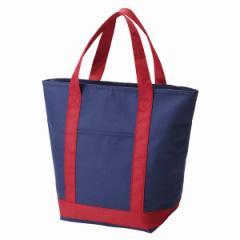 保冷バッグ ショッピングバッグ ネイビー ファスナー式 トートバッグ ( 保冷トートバッグ クーラーバッグ 大容量 保温バッグ 買い物