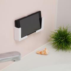 バス収納 磁着マグネット 磁着SQ バススマートフォンホルダー ( バス 収納 ホルダー 磁石 マグネット 浴室 バスルーム お風呂 壁面 壁