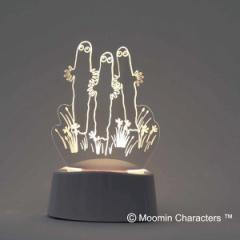 照明 LEDアクリルスタンド ムーミン ニョロニョロ ( LEDライト アクセサリースタンド メガネ置き 音感センサー 振動 点灯 玄関 インテリ