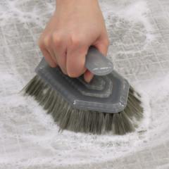 バスブラシ 風呂掃除 ブラシ 角効く 浴室用 ( ユニットバス 風呂ブラシ 掃除ブラシ 風呂用ブラシ 洗い場 床 コーナー 角 溝 壁 継ぎ目