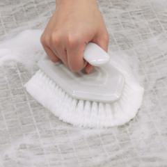 バスブラシ 風呂掃除 ブラシ 角効く タイル床・目地用 ( タイル風呂 風呂ブラシ 掃除ブラシ 風呂用ブラシ 洗い場 床 タイル コーナー 角