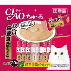 【SALE】チャオ ちゅ〜る 総合栄養食 まぐろ 海鮮ミックス味 14g×20本[ちゅーる]