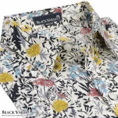 シャツ花柄総柄レギュラーカラー小花長袖シャツメンズ(ブラック) 935030/花柄レギュラーカラー長袖ローンシャツ