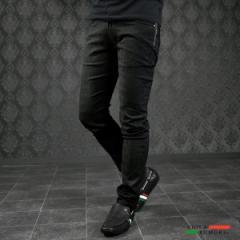 VIOLA rumore ヴィオラ ビオラ ロングパンツ メンズ ジャガード スキニー ストレッチ シンプル ボトム mens(ブラック黒) 01114