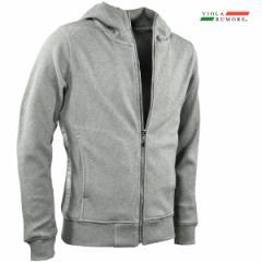 VIOLA rumore ヴィオラ ビオラ ジップアップパーカー サーマル シンプル ジップアップジャケット メンズ mens(グレー灰) 01125