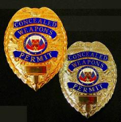 ブラッキントン ポリスバッジ Concealed Weapons Permit [ シルバー ][a9443sil]