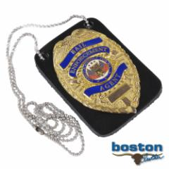 ボストンレザー バッジホルダー 4050-1 ネックチェーン付[bos40501]