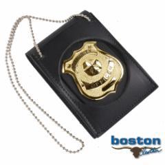 ボストンレザー ID&バッジホルダー 450-9001 丸型 ネックチェーン付[bos450-9001]