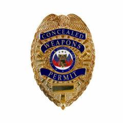 ブラッキントン ポリスバッジ Concealed Weapons Permit [ ゴールド ][fp16901]