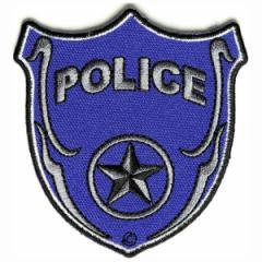 ワッペン POLICE シールド型[p1334]