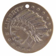チャームパーツ リバティインディアンコイン P254[p254]