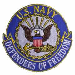 ミリタリーワッペン U.S. NAVY 紋章 アメリカ海軍 アイロンシート付[res28242]