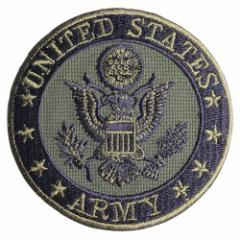 ミリタリーワッペン アメリカ陸軍 ARMY 紋章 アイロンシート付[res32096]