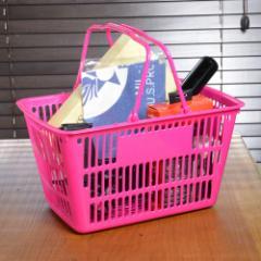 買い物カゴ ミニサイズ 11L [ ピンク ][rev28912]
