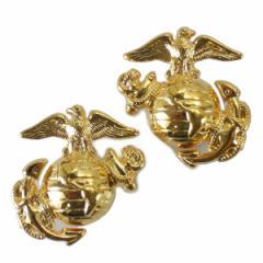 Rothco ミリタリーバッジ 海兵隊紋章 2個 1548 ネジ式 2個セット[ro1548]