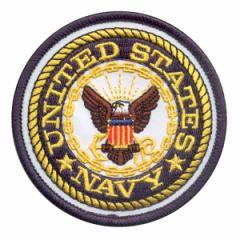 Rothco ミリタリーワッペン 1590 アメリカ海軍 U.S.NAVY 熱圧着式[ro1590]