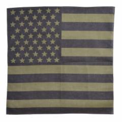 ROTHCO バンダナ アメリカ 星条旗 [ ブラック&オリーブドラブ / Sサイズ ][ro4073]