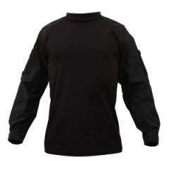 Rothco コンバットシャツ 90010 ブラック [ Sサイズ ][ro90010s]