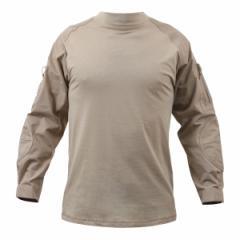 Rothco コンバットシャツ カーキ 90030 [ XLサイズ ][ro90030xl]