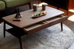 センターテーブル 幅100cm ミディアムブラウン ELAN 100 CENTER TABLE MBR ise-3743340s1 /北欧/インテリア/セール/モダン/送料無料/激安