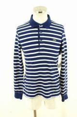 LACOSTE(ラコステ) ボーダー柄ロングスリーブポロシャツ サイズ[2] メンズ シャツ 【中古】【ブランド古着バズストア】【200817】