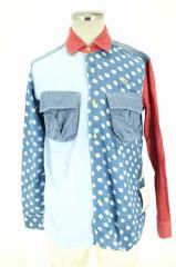 ALDIES(アールディーズ) ドット柄切替2Pシャツ サイズ[M] メンズ シャツ 【中古】【ブランド古着バズストア】【150817】