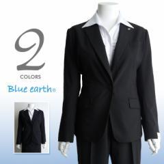 【大きいサイズ】【レディース】Blue earth 1釦ノッチドラペルキャリアジャケット lj8009q