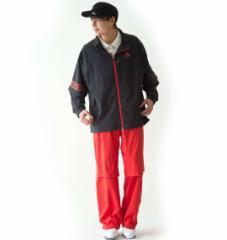 【大きいサイズ】【メンズ】 adidas golf レインスーツ ブラック×レッド 1176-5210-1 [4XO・5XO・6XO・7XO]