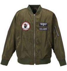 【大きいサイズ】【メンズ】 LUCPY MA-1ジャケット カーキ 1153-7350-1 [3L・4L・5L・6L]