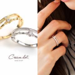 【ゆうパケット送料無料】指輪 リング  ダブルラインリング レディース Ladies 極細 シンプル デザイン 重ね着け  ゴールド シルバー 人