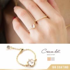 【ゆうパケットOK】リング  チェーンリング  指輪  キュービック・ジルコニア  シルバー  ゴールド  細身  華奢リング
