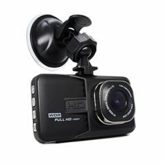 前後カメラドラレコ  前後録画対応 ドライブレコーダー 3.0インチ 大画面 スクリーン バックカメラ 暗視 LED 付き FH06H
