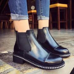 シューズ レディース 靴 サイドゴアブーツ ブーツ ミドル ショート 厚底 (bo-411) *a