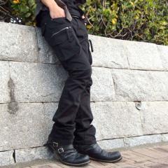 送料無料 ブーツ メンズ 2連ベルト ドレープ ショートブーツ アンティーク加工 エンジニアブーツ デザートブーツ ジップ 黒  靴 / hit_d