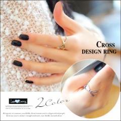 リング アクセ レディース アクセサリー 指輪 クロス シルバー ゴールド 重ね付け シンプル 大人 きれいめ フェミニン 可愛い