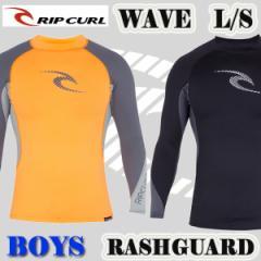 値下げしました!RIP CURL/リップカール ボーイズ用 長袖ラッシュガード WAVE (YOUTH) L/S RASHGUARD  新作【サーフィン】