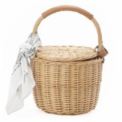 カカトゥ(kakatoo)/【SALE】バンダナ付き柳バケツ型かごバッグ