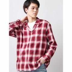ウィゴー(メンズ)(WEGO)/ウィゴー(WEGO/オンブレチェックオープンカラーシャツ)