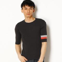 クリフメイヤー(メンズ)(KRIFF MAYER)/タイトフィット袖切替5分Tシャツ