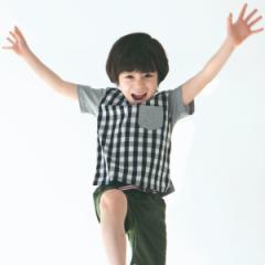 ザ ショップ ティーケー(キッズ)(THE SHOP TK Kids)/【150cmまで】切替ギンガムチェックTシャツ