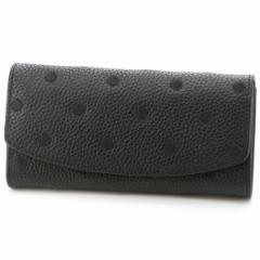 ペルケ(perche')/牛革ドット刺繍かぶせ長財布