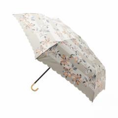 グローブ(grove)/ボーダーフラワー折り畳み傘(晴雨兼用)