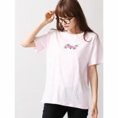 ウィゴー(レディース)(WEGO)/ウィゴー(WEGO/ピンクローズ刺繍Tシャツ)